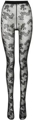 Saint Laurent Floral lace tights