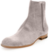 Maison Margiela Suede Chelsea Boot, Light Gray