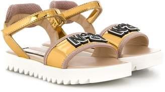 No.21 Kids strappy logo sandals