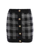 Balmain Rhinestone Embellished Mini Skirt