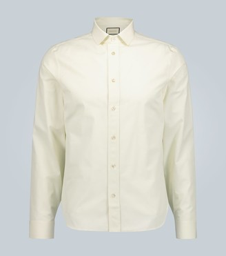 Gucci Piece Dyed cotton long-sleeved shirt