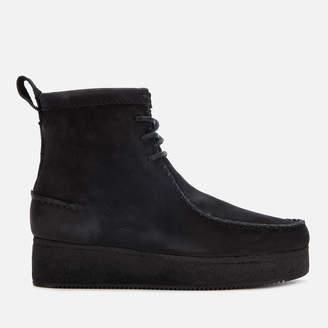 Clarks Women's Wallabee Craft Nubuck Boots - Black