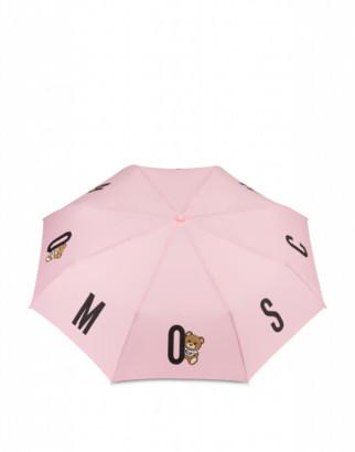 Moschino Bear Logo Openclose Umbrella Woman Pink Size Single Size