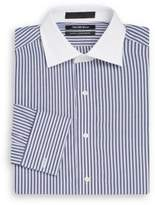 Saks Fifth Avenue Slim-Fit Contrast-Collar Striped Dress Shirt