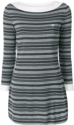 Chanel Pre-Owned striped CC dress