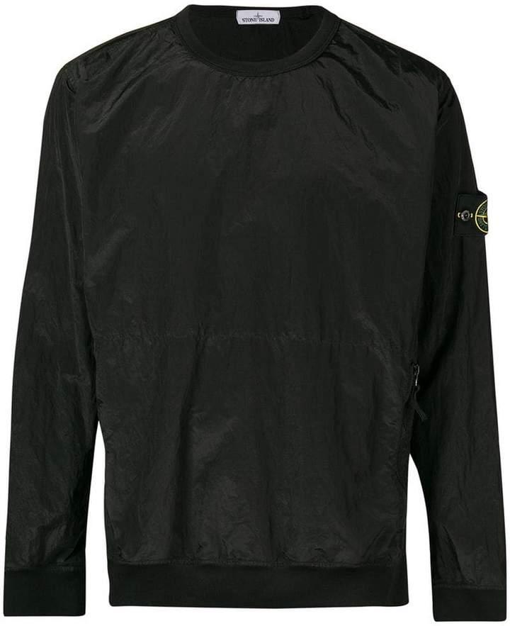 Stone Island metal nylon sweatshirt