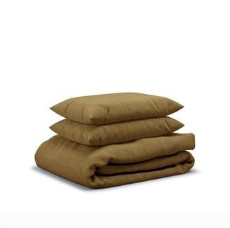 Flax Sleep Linen Duvet Set Olive, King