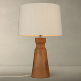 John Lewis Camborne Oak Base Table Lamp, Natural