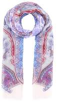 Etro Printed linen and silk scarf