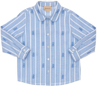 Gucci Striped Cotton Poplin Shirt