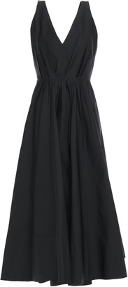 Roksanda Open-back Sequin-trimmed Pleated Taffeta Midi Dress