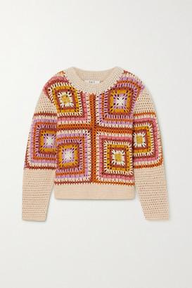 Sea Farrah Crocheted Wool-blend Sweater - Pink