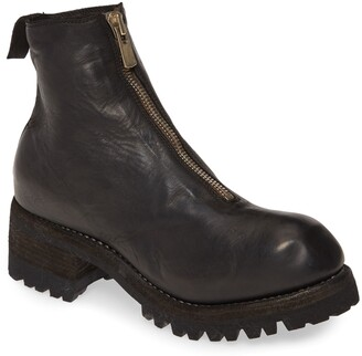 Guidi Front Zip Lug Sole Boot