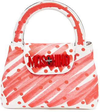 Moschino Printed Faux Leather Tote