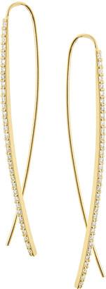 Lana Gloss Flawless 14K Gold Upside Down Hoop Earrings with Diamonds