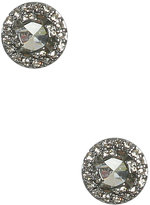 Round Paved Stud Earring