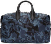 Alexander McQueen Blue Medium Holdall Duffle Bag
