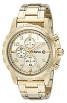Fossil Men's FS4867 Dean Chronograph Stainless Steel Watch - Gold-Tone