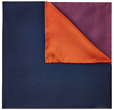 Jaeger Silk Colour Block Pocket Square, Multi Red