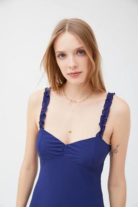 Urban Outfitters Johnson Ruffle Mini Slip Dress