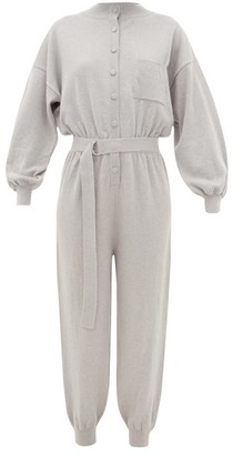 Cordova Belted Wool-blend Jumpsuit - Womens - Grey