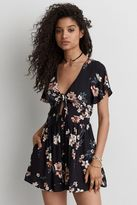 American Eagle Outfitters AE Tie Front Romper