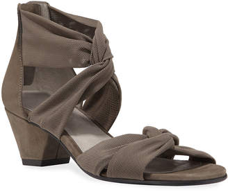 Eileen Fisher Joy Knotted Zip Sandals