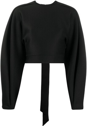 Beaufille Wide-Sleeve Cut-Out Top