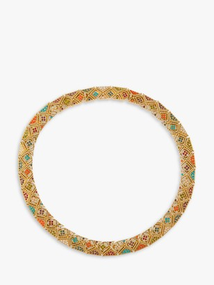 Susan Caplan Vintage D'Orlan 22ct Gold Plated Faux Pearl and Swarovski Crystal Collar Necklace, Gold/Multi