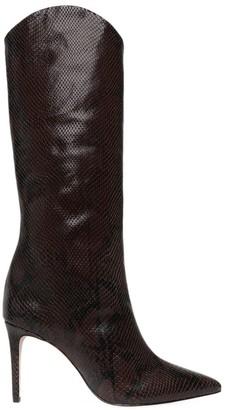 Schutz Maryana Knee-High Lizard-Embossed Leather Boots