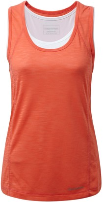 Craghoppers Womens/Ladies Pro Lite 3 In 1 Sleeveless Vest (16) (Bright Papaya)