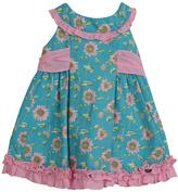 Dolce Petit Teal Sunflower Dress