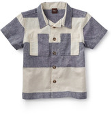 Tea Collection Sea Cliff Stripe Linen & Cotton Shirt (Toddler & Little Boys)