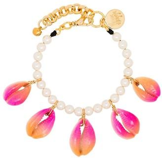 Venessa Arizaga Summer Shells pearl bracelet