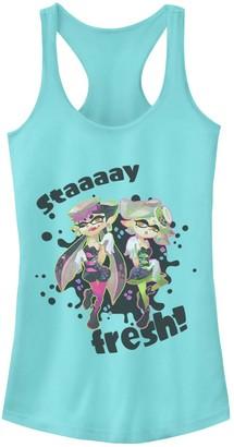 Juniors' Splatoon Squid Sisters Splat Logo Ideal Racerback Tank Top