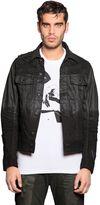 Diesel Coated & Distressed Denim Jacket