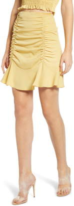 4SI3NNA the Label Ruched Short Skirt