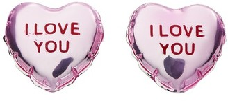 Marc Jacobs The Balloon Studs I Love You earrings