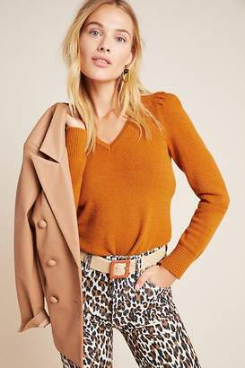 Anthropologie Cherie Puff-Sleeved Pullover