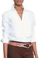 Lauren Ralph Lauren Petite Cotton Poplin Bib Shirt