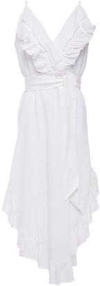 IRO Lemon Ruffled Linen And Cotton-blend Dress