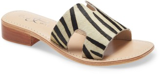 Bos. & Co. Imani Genuine Calf Hair Slide Sandal