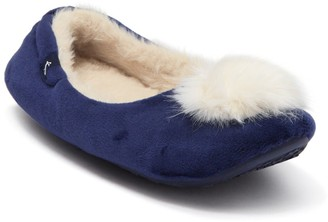 Joules Pombury Faux Fur Ballet Slipper