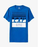 Express stripe EXP nyc textured graphic tee