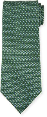 Salvatore Ferragamo Men's 4 Molina Patterned Silk Tie