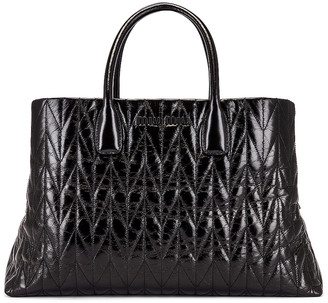 Miu Miu Leather Shoulder Bag in Black | FWRD