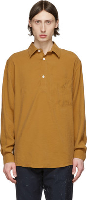 Schnaydermans Orange Modal Boxy Popover Shirt