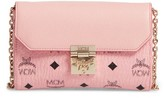 MCM Millie Visetos Crossbody Bag - Pink