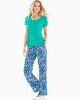 Soma Intimates Short Sleeve Pajama Set Ambition Dynasty Green SH
