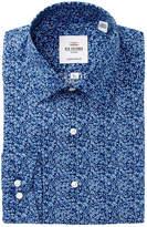 Ben Sherman Blue Floral Print Florentine Tailored Slim Fit Dress Shirt